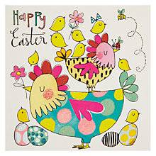 Buy Rachel Ellen Happy Easter Chickens & Chicks Card Online at johnlewis.com