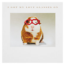 Buy Susan O'Hanlon I Got My Love Glasses On Valentine's Day Card Online at johnlewis.com