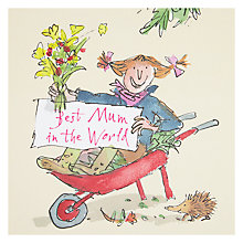 Buy Woodmansterne Best Mum In The World Wheelbarrow Mother's Day Card Online at johnlewis.com