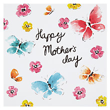 Buy Butterflies Happy Mother's Day Card Online at johnlewis.com