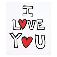 Buy I Love You Valentine's Day Card Online at johnlewis.com