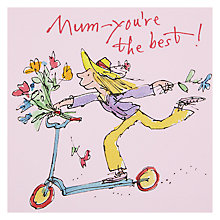 Buy Girl On A Scooter Mother's Day Card Online at johnlewis.com