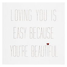 Buy Loving You Is Easy Valentine's Day Card Online at johnlewis.com