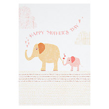 Buy Velvet Olive Elephants Mother's Day Card Online at johnlewis.com