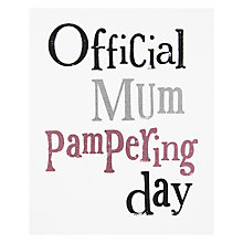 Buy Official Mum Pampering Day Mother's Day Card Online at johnlewis.com