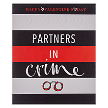 Buy Partners In Crime Valentine's Day Card Online at johnlewis.com