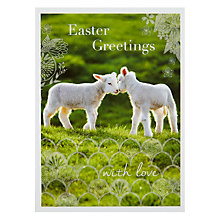 Buy Woodmansterne Two Lambs Nose to Nose Card Online at johnlewis.com