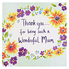 Buy Thank You... Mother's Day Card Online at johnlewis.com