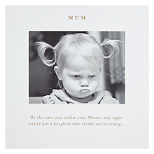 Buy By The Time You Realise... Mother's Day Card Online at johnlewis.com