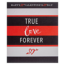 Buy True Love Forever Valentine's Day Card Online at johnlewis.com
