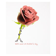 Buy With Love Big Rose Mother's Day Card Online at johnlewis.com