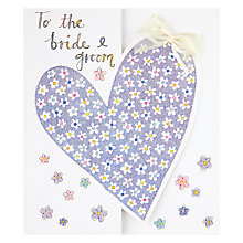 Buy Ditsy Floral Heart with Bow Wedding Card Online at johnlewis.com