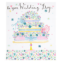 Buy On Your Wedding Day Wedding Card Online at johnlewis.com