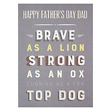 Buy James Ellis Stevens Top Dog Father's Day Card Online at johnlewis.com