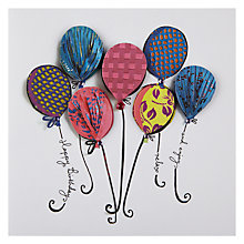 Buy Paper Rose Balloons - Handmade Birthday Card Online at johnlewis.com