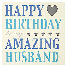 Buy Mint Amazing Husband Card Online at johnlewis.com