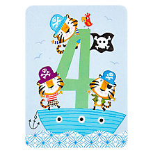 Buy James Ellis Stevens, Boy's Age 4 Tiger Kids Card Online at johnlewis.com