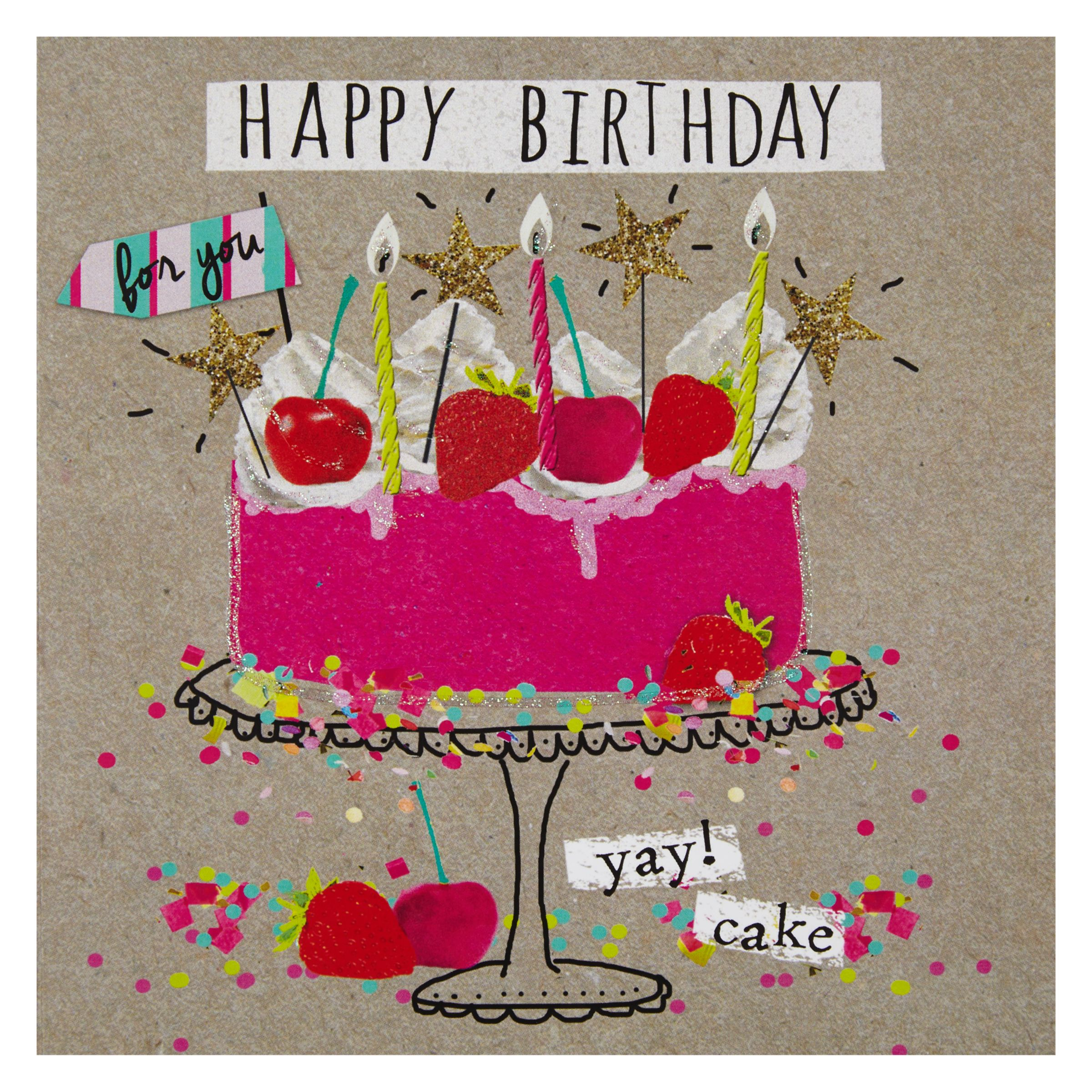 Birthday Cake John Lewis : Buy Hammond Gower Birthday Cake Card John Lewis