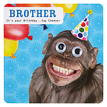 Buy Paperlink Birthday - Brother Card Online at johnlewis.com