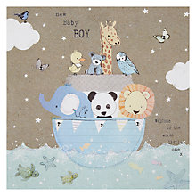 Buy Hammond Gower Blue Ark New Baby Card Online at johnlewis.com