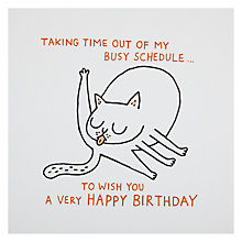 Buy Ohh Deer Busy Schedule Birthday Card Online at johnlewis.com