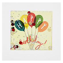 Buy James Ellis Stevens, Colourful Balloons Shakies Card Online at johnlewis.com