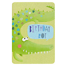 Buy James Ellis Stevens Crocodile Birthday Card Online at johnlewis.com