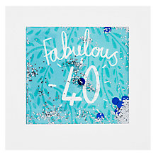 Buy James Ellis Stevens, Fabulous 40 Shakies Card Online at johnlewis.com
