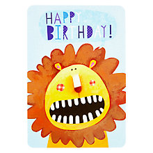 Buy James Ellis Stevens, Lion Birthday Card Online at johnlewis.com