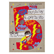 Buy Hammond Gower 5th Birthday Card, Red Online at johnlewis.com