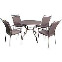 Buy LG Outdoor Richmond 4-Seater Highback Dining Set Online at johnlewis.com