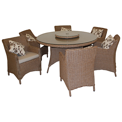 LG Outdoor Saigon Heritage 6-Seater Round Dining Set with Lazy Susan