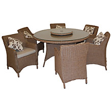 Buy LG Outdoor Saigon Heritage 6-Seater Round Dining Set with Lazy Susan Online at johnlewis.com