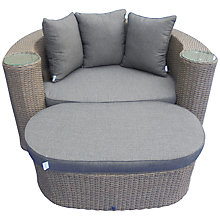 Buy LG Outdoor Saigon Rustic Weave Crescent Daybed With Footstool Online at johnlewis.com