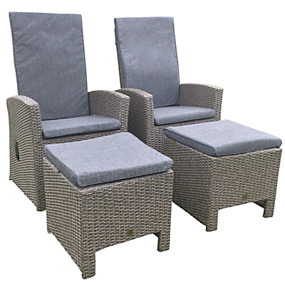 Leisuregrow Saigon Rustic Weave Reclining Armchair