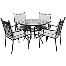Buy LG Outdoor Casablanca 4-Seater Round Dining Table & Chairs Set Online at johnlewis.com