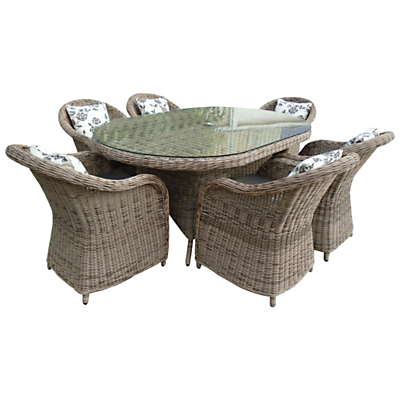 Leisuregrow Saigon Colonial 6-Seater Oval Dining Set