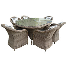 Buy LG Outdoor Saigon Colonial 6-Seater Oval Dining Set Online at johnlewis.com