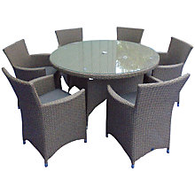 Buy LG Outdoor Saigon Rustic Weave 6-Seater Round Dining Set Online at johnlewis.com