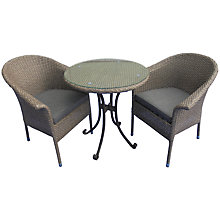 Buy LG Outdoor Saigon Rustic Weave Bistro Set Online at johnlewis.com