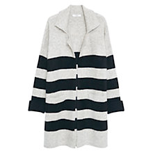 Buy Mango Striped Cardigan, Light Grey Online at johnlewis.com