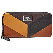 Buy Fossil Dawson Leather Zip Purse, Multi Online at johnlewis.com