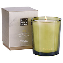 Buy Rituals Lotus Secret Candle, 290g Online at johnlewis.com