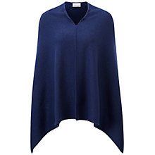 Buy Pure Collection Darnley Cashmere Sparkle Poncho, Deep Sapphire Online at johnlewis.com
