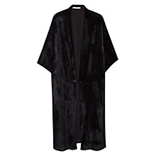 Buy Mango Velvet Longline Kaftan, Black Online at johnlewis.com