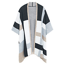 Buy Violeta by Mango Colour Block Cape, Multi Online at johnlewis.com