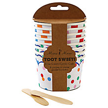 Buy Meri Meri Toot Sweet Striped Ice Cream Cups Online at johnlewis.com