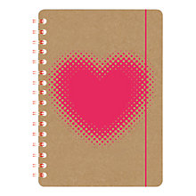 Buy Go Stationery Heart Kraft A5 Notebook Online at johnlewis.com
