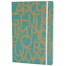 Buy Go Stationery Typo A5 Notebook, Blue Online at johnlewis.com