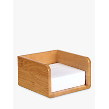Buy John Lewis Bamboo Memo Holder Online at johnlewis.com